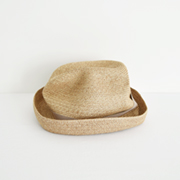 mature ha. BOXED HAT 104 mixbrown×pink beige
