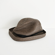 mature ha. BOXED HAT 104 darkbrown×black
