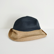 mature ha. BOXED HAT 101 2tonecolor navy×mixbrown
