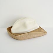 mature ha. BOXED HAT 101 2tonecolor white×mixbrown