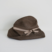mature ha. BOXED HAT 101 darkbrown×pink beige