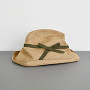 mature ha. BOXED HAT 101 mixbrown×khaki