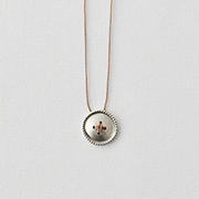 Toile SV950 Button Necklace BEIGE