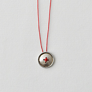 Toile SV950 Button Necklace RED