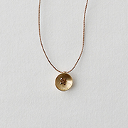 Toile K10YE Button Necklace BEIGE