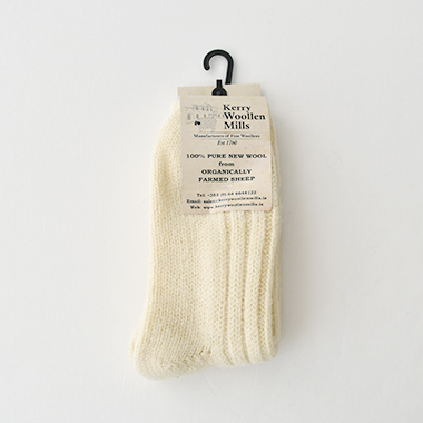 Kerry Woollen Mills Socks White