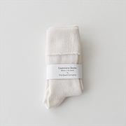 William Brunton Rib Socks NAT