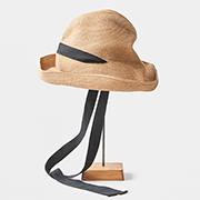 mature ha. BOXED HAT 101 garden ribbon black