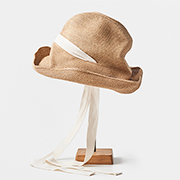 mature ha. BOXED HAT 101 garden ribbon natural