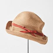 mature ha. BOXED HAT 101 grosgrain dark orange