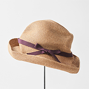mature ha. BOXED HAT 101 grosgrain dark rose