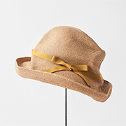 mature ha. BOXED HAT 101 grosgrain dark yellow