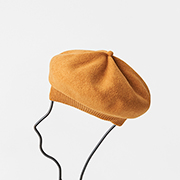 mature ha. beret top gather rib turmeric
