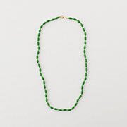 Toile Vintage Beads Necklace green