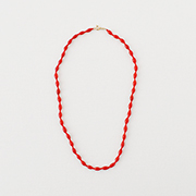 Toile Vintage Beads Necklace red