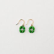 Toile Vintage Beads Pierce green