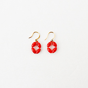 Toile Vintage Beads Pierce red